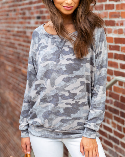 Hometown Bound Top - Grey