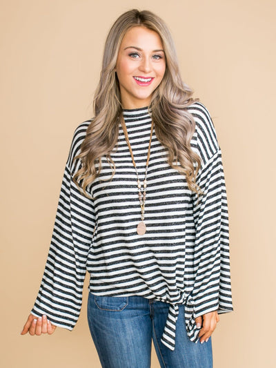 How Can It Be Stripe Knot Top - Off White