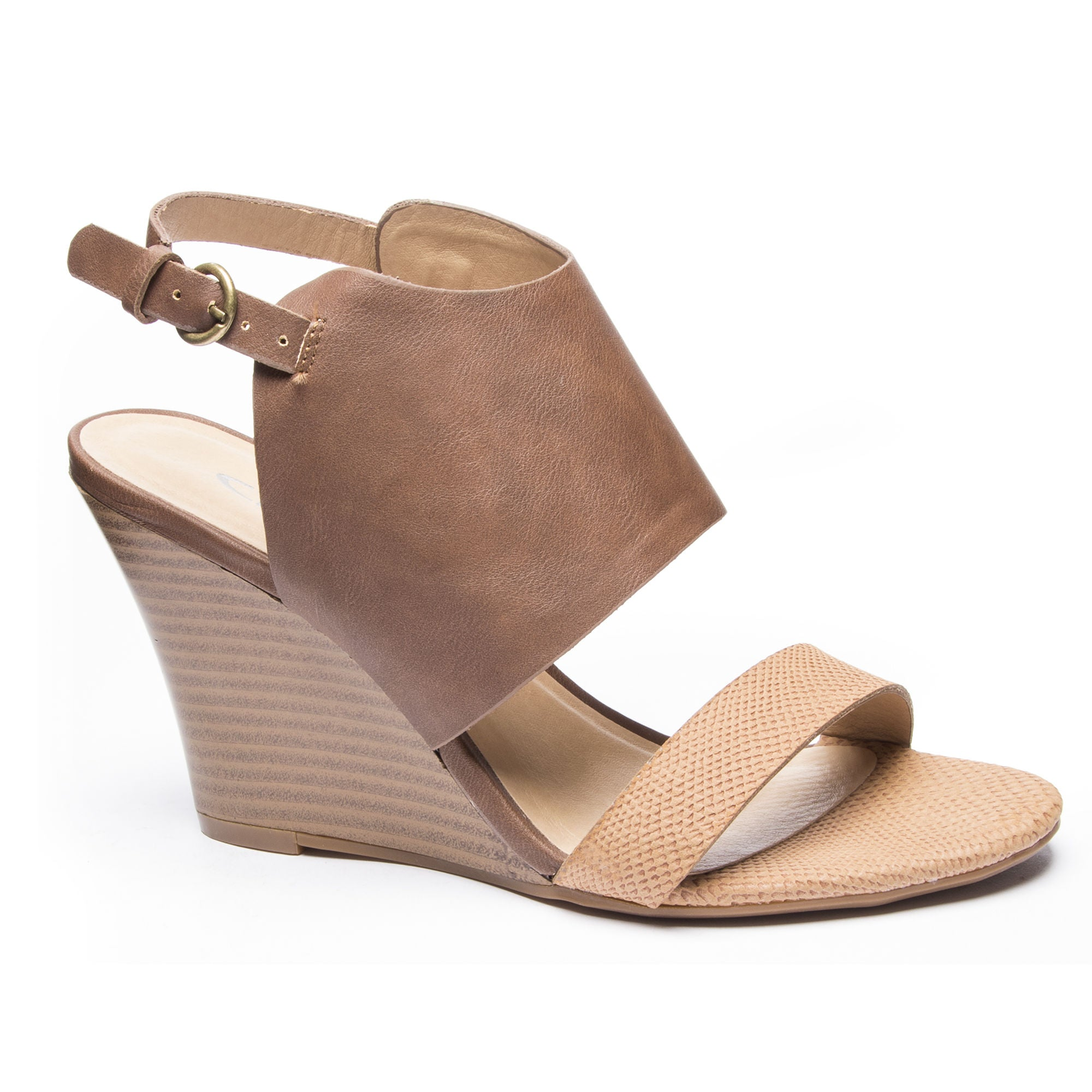 4ff721e7b54 Chinese Laundry Karina Wedge Sandals - Tan Biscuit - Eleven Oaks Boutique