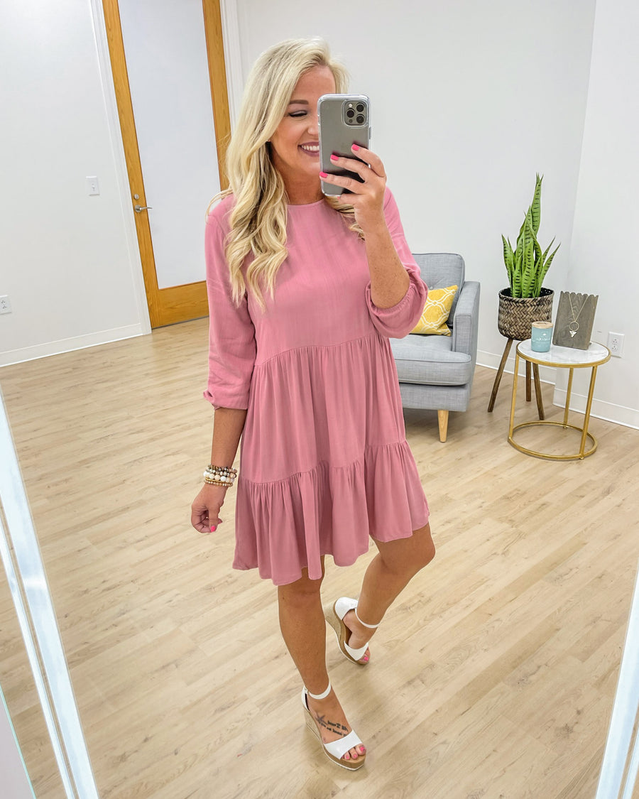 Picture Perfect Moments Dress - Peony