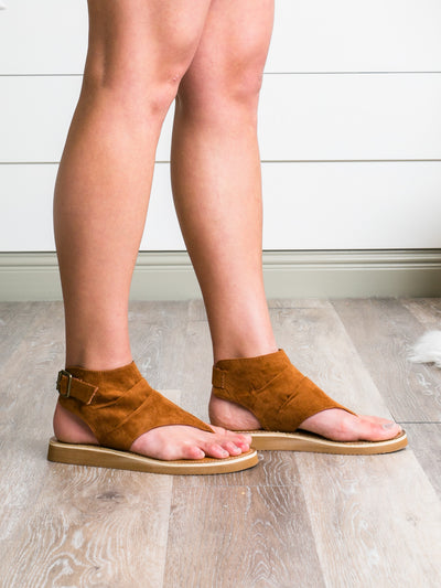 Free Spirit Sandals - Cognac