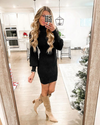 Captivated By You Sweater Dress - Black