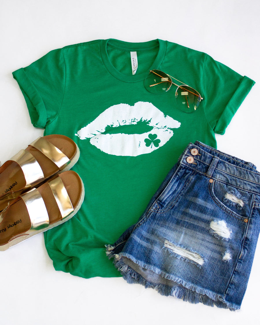 Kiss Me I'm Irish Graphic Tee - Green