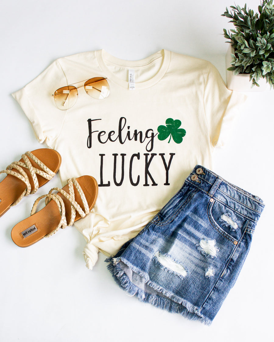 Feeling Lucky Graphic Tee - Cream