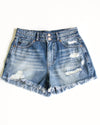 Georgia Distressed Shorts - Medium Wash