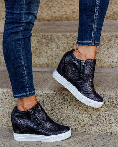 Not Rated Arden Wedge Sneaker - Black