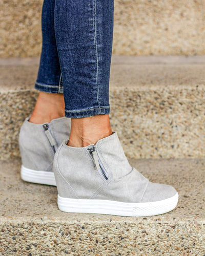 Not Rated Aviana Wedge Tennis Shoe - Light Grey