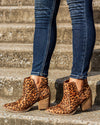 Not Rated Lola Cutout Bootie - Leopard