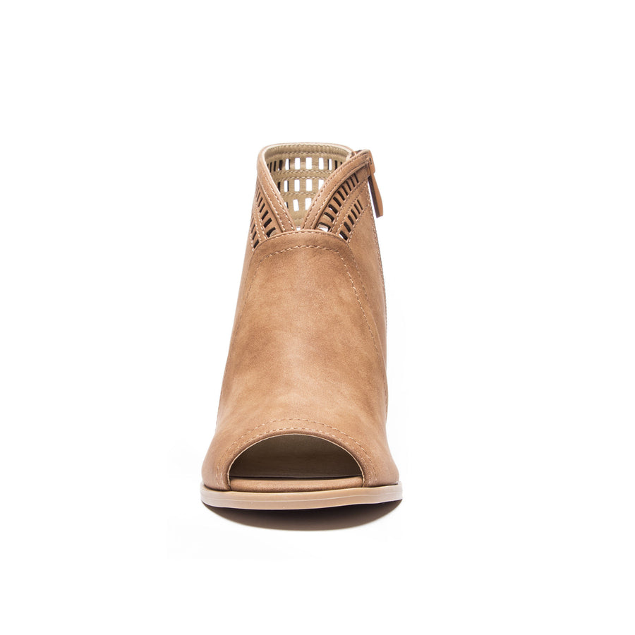 Chinese Laundry Rylie Peep Toe Bootie - Tan