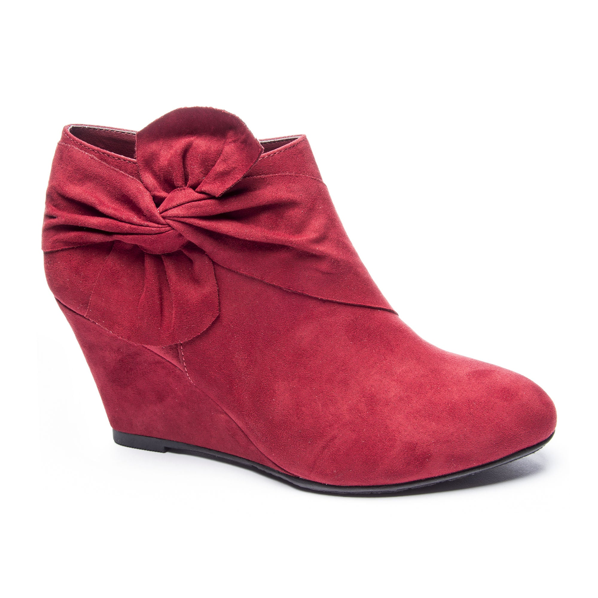 267646396eb4 Chinese Laundry Vivid Wedge Bootie - Cherry Red - Eleven Oaks Boutique