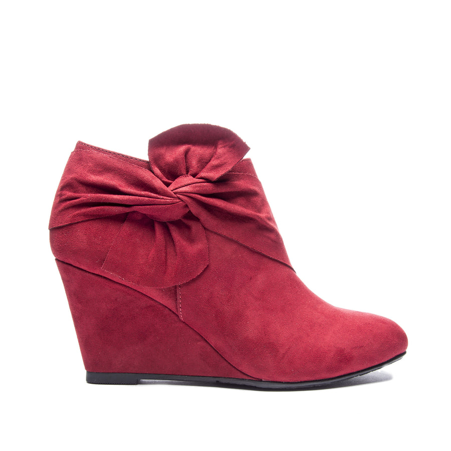 Chinese Laundry Vivid Wedge Bootie - Cherry Red