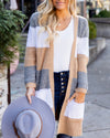 I've Got The Time Cardigan - Grey Multi