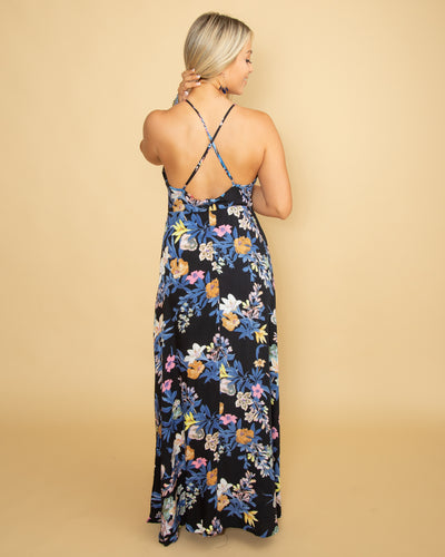 If This Love Lasts Floral Maxi - Black