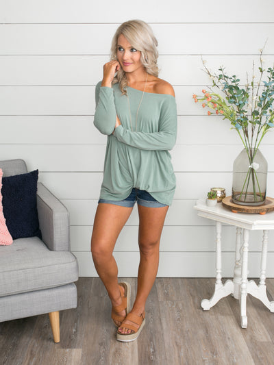 If We Knew Then Knot Top - Sage