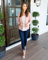 In Your Best Interest Lightweight Blazer - Light Blush