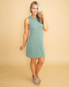 In This Moment Back Cutout Dress - Sage