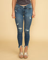 Isabell Distressed Skinny Jean - Medium Wash