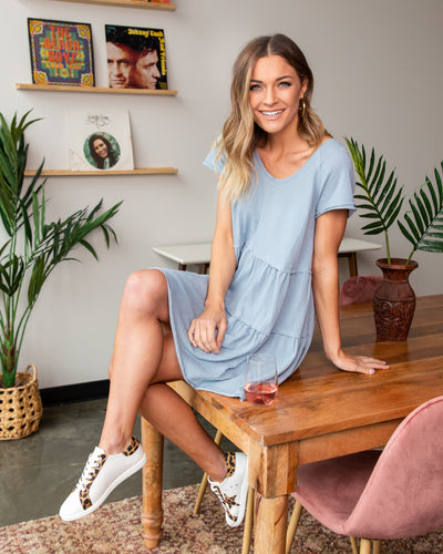 It's Your Lucky Day Dress - Sky Blue