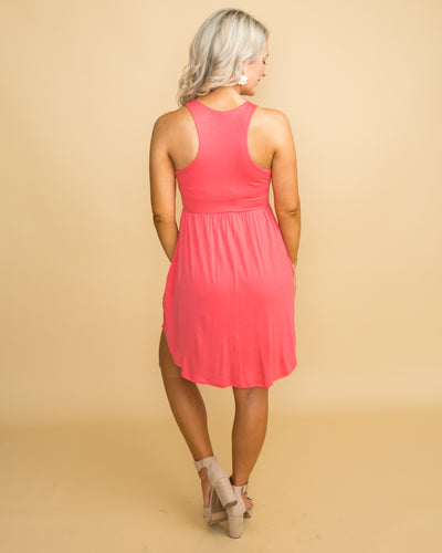 It's Your Charm Dress - Coral