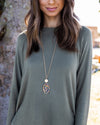 Jackie Statement Necklace - Gold Multi