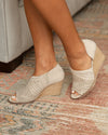 Jackson Open Toe Booties - Cream