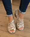 Jasmine Open Toe Booties - Leopard