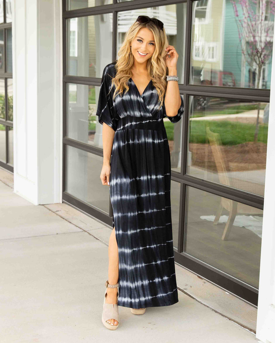 Jetting To Paradise Maxi Dress - Charcoal