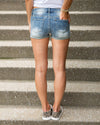 Julia Distressed Shorts - Medium Wash