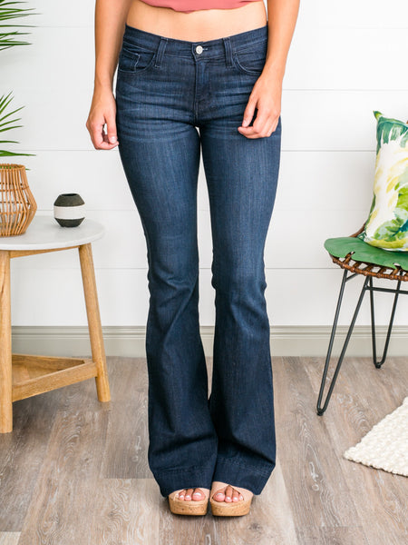 Lauren Flares - Dark Wash