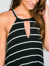 Midnight In The City Halter - Black