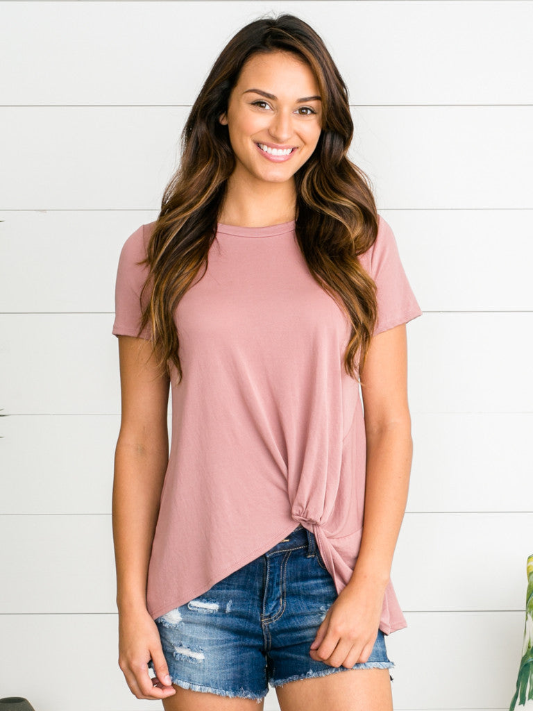 Never Forget You Knot Top - Mauve