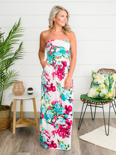 Summertime Sweetheart Maxi Dress - Off White
