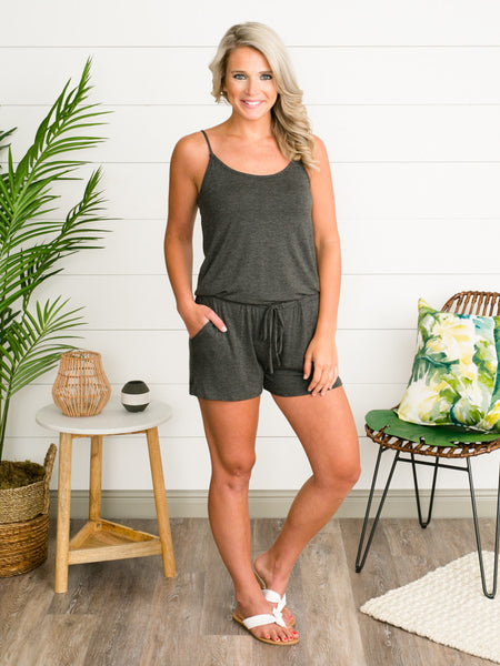 Boat House Romper - Grey