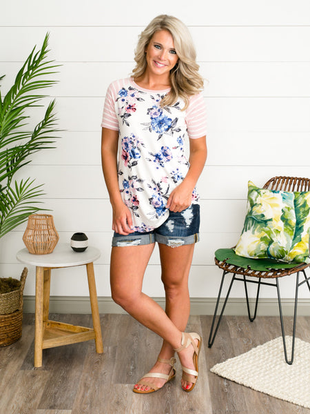 All The Feels Floral Top - Blush