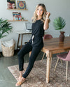 Just Landed Jumpsuit - Black