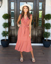 Just One Dance Dress - Dark Salmon