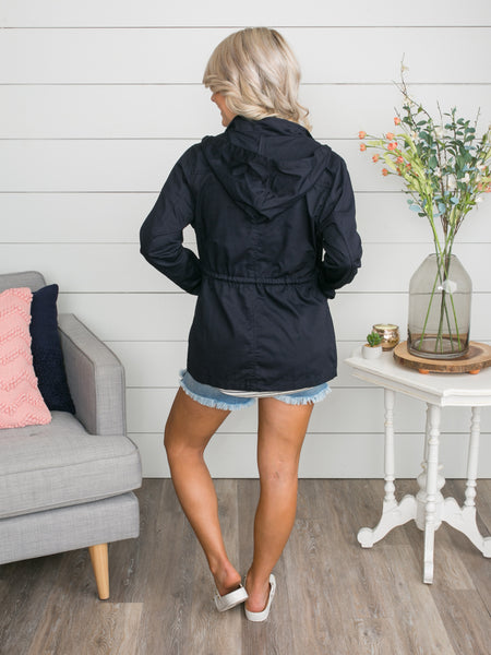 Just Let Me Know Utility Jacket - Navy