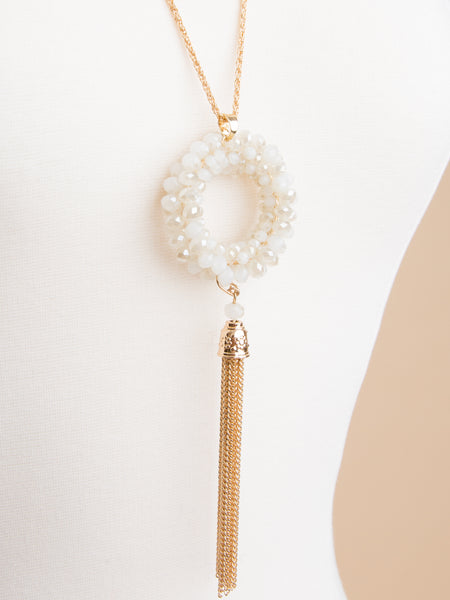 Karli Tassel Necklace - Ivory