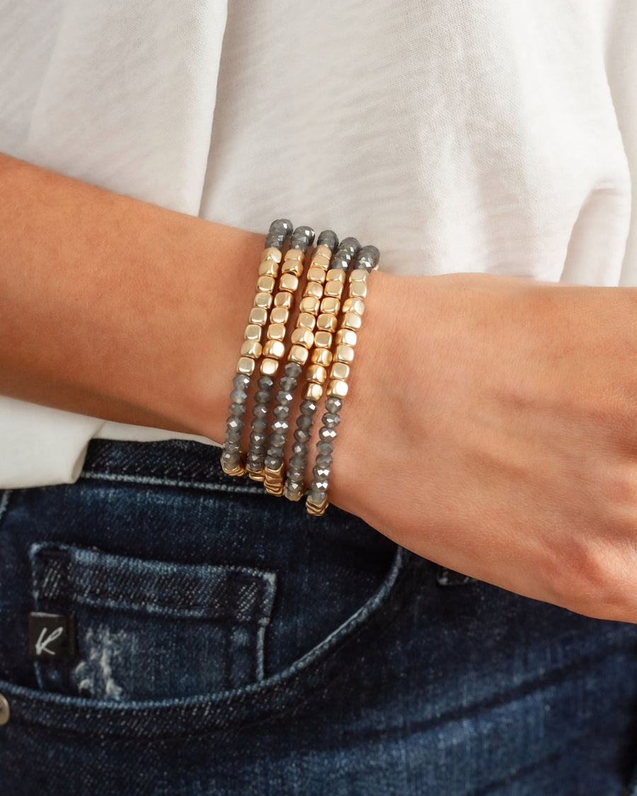 Kaylie Stackable Bracelet - Charcoal