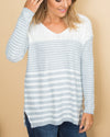 Keep A Secret Sweater - Heather Grey