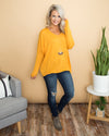 Keep It Real Sweater - Mustard