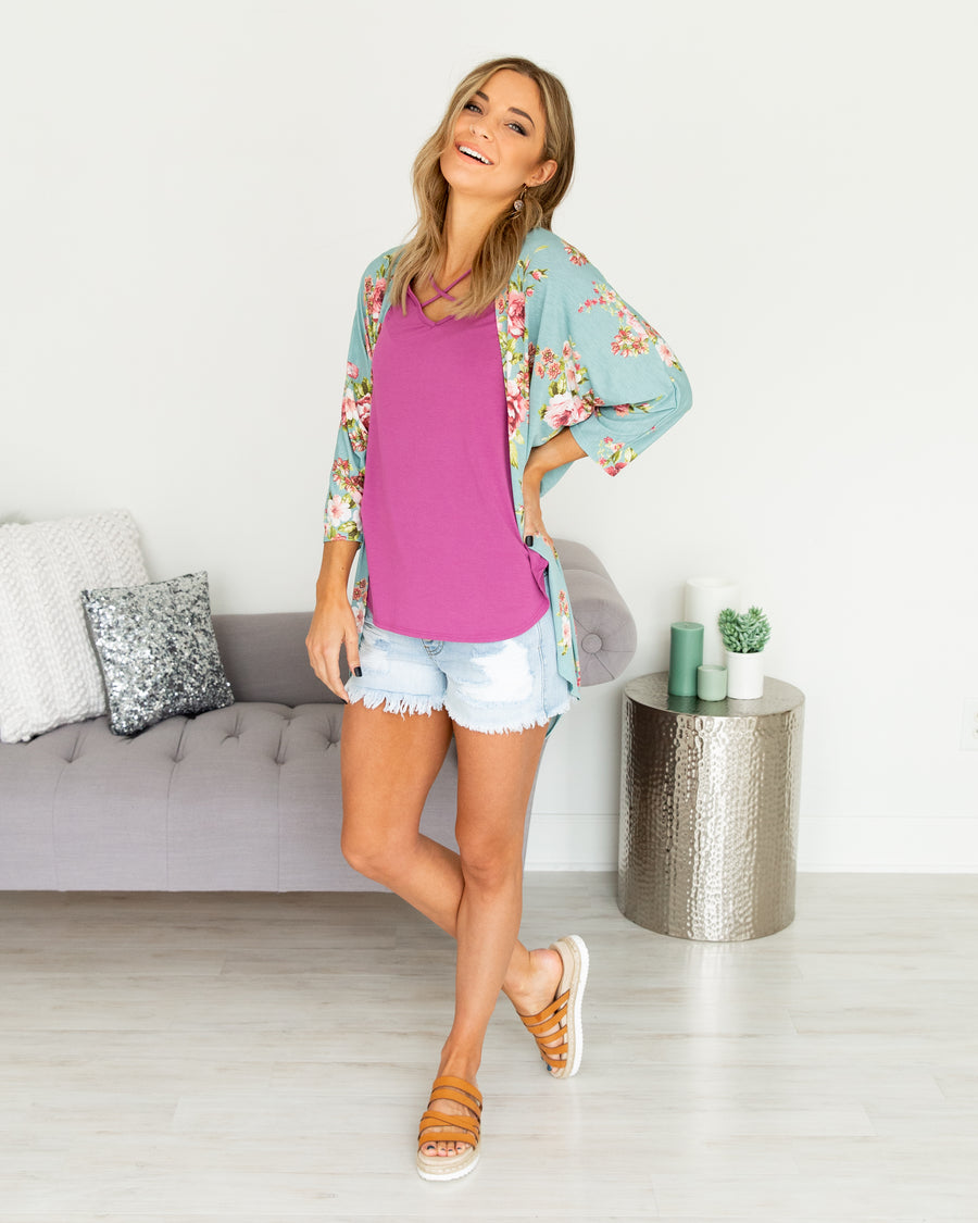 Keeper Of My Heart Kimono - Mint