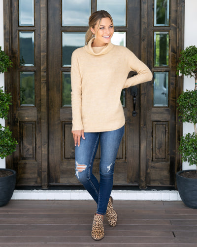 Keeping It Real Sweater - Blonde