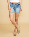 Kellie Cuffed Denim Short - Light Wash