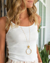 Kelly Statement Necklace - Beige