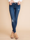 Khloe Distressed Skinny Jean - Dark Wash