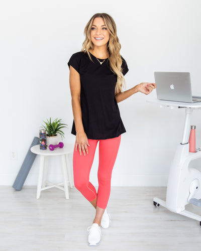 Kickstart The Day Top - Black