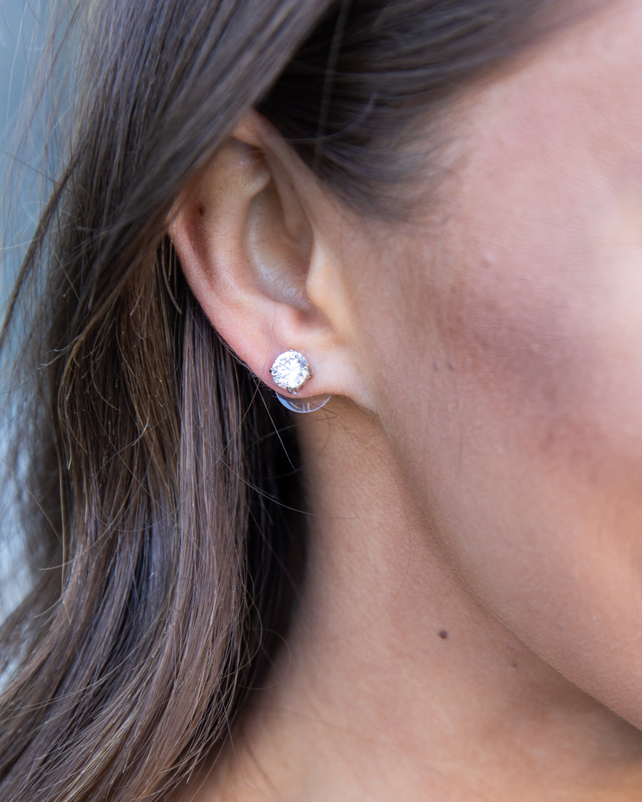 Kimberly Stud Earrings - Silver