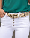 Kira Cheetah Print Belt - Gold