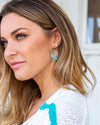 Kira Hoop Earrings - Teal